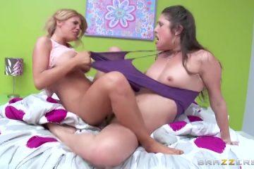 Tijdens het scharen krijgen de pot meiden een climax